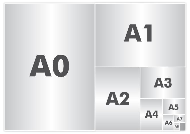 comparatif des formats de papier d 39 impression a1 a2 a3 a4 a5 a6 a7 a8 a9 a10. Black Bedroom Furniture Sets. Home Design Ideas