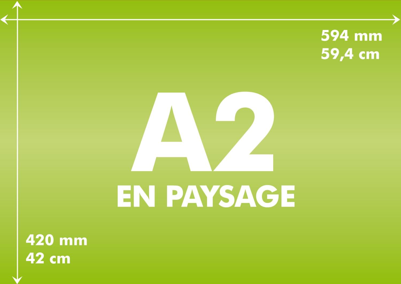 longueur et largeur d 39 un format a2 toutes les tailles en paysage et portrait du a2. Black Bedroom Furniture Sets. Home Design Ideas