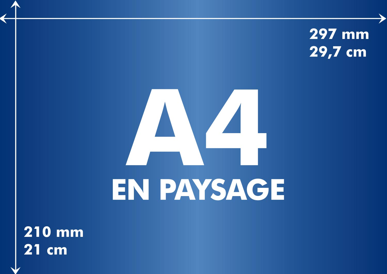 Longueur et largeur d 39 un format a4 toutes les tailles en for Agence format paysage