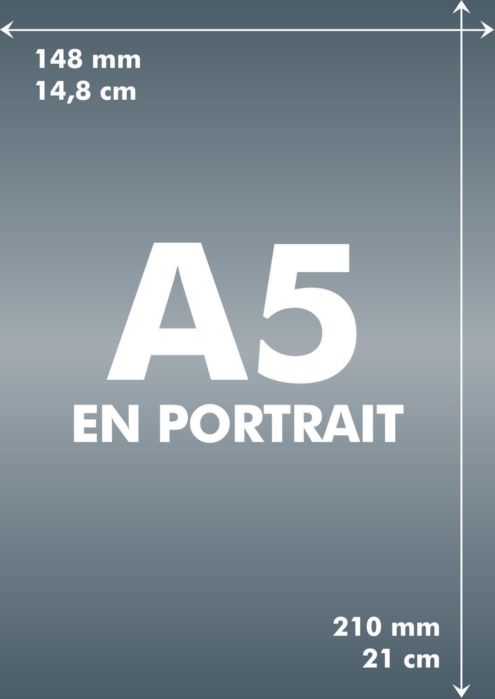 a5 longueur et largeur d 39 un format a5 toutes les tailles en paysage et portrait du a5. Black Bedroom Furniture Sets. Home Design Ideas